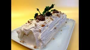 hervé cuisine buche marron bûche de noël crème de marron chantilly tousencuisineavecseb