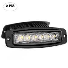 100 Work Lights For Trucks LED Light 2PCS 18W Spot Led Light Bar Driving Off Road