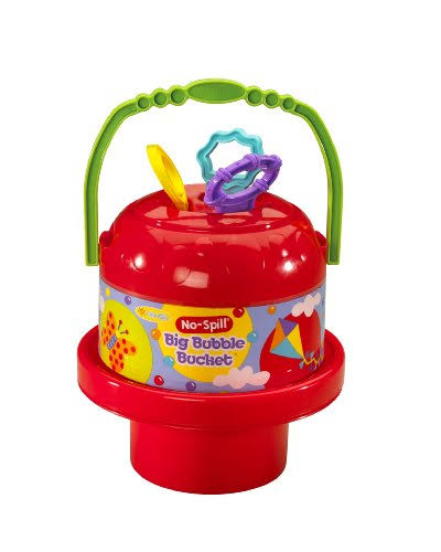 Little Kids No Spill Big Bubble Bucket - Colors May Vary