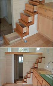 Storage Cabinets Under The Stairs Are A Tiny House Mainstay