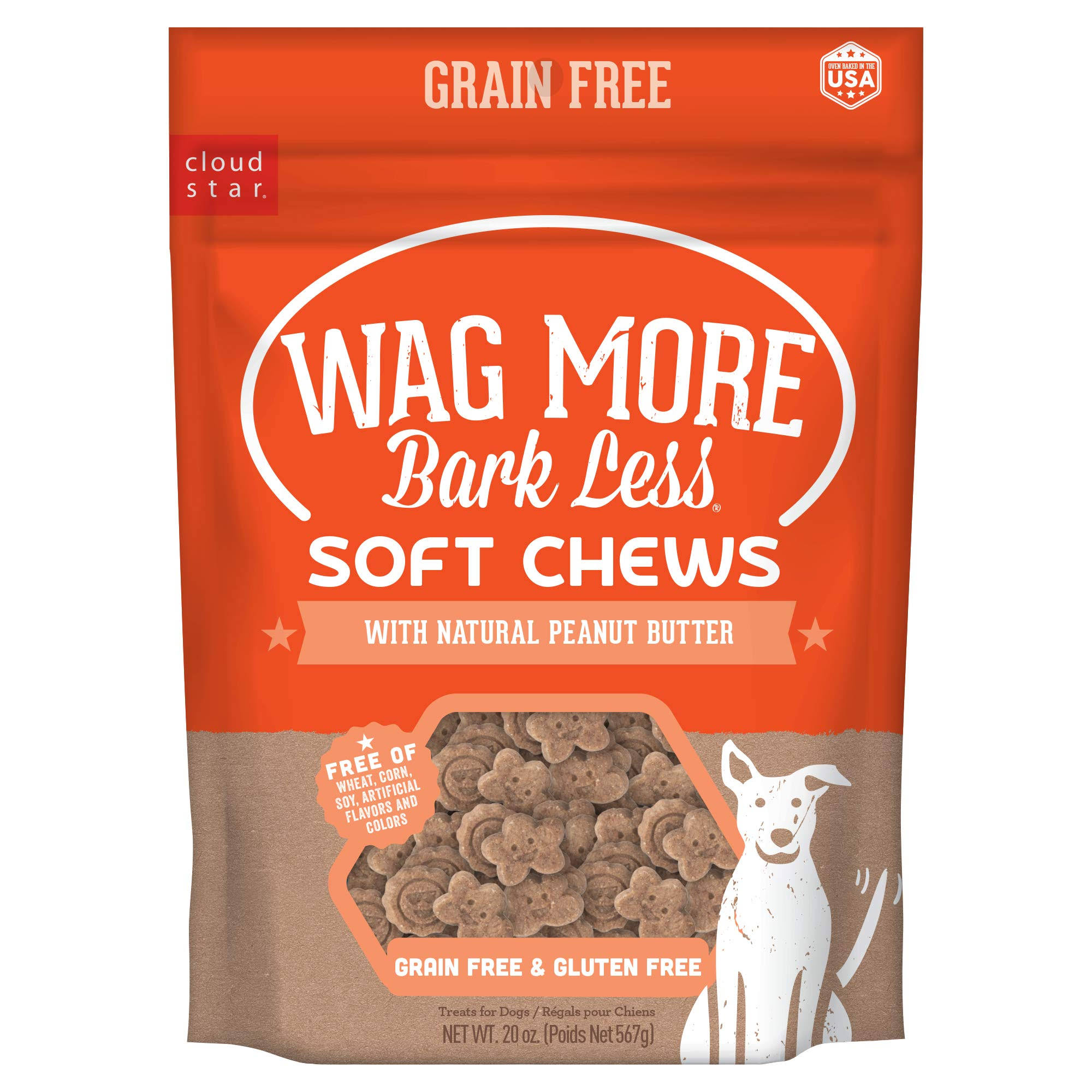 Wagmore 25072913 20 oz Grain Free Soft & Chewy Peanut Butter Dog Food