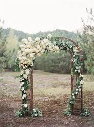 Rustic Wedding Arch With White Flowers And Branches What A Beautiful Decoration Idea