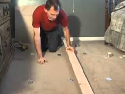 Fix Squeaky Floors From Basement by How To Stop Floor Squeaks Thru Carpet Youtube