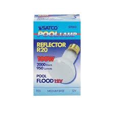 satco pool l incandescent light bulb 100 watts 950 lumens