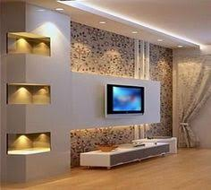 13 rigips zid ideen tv wand wohnzimmer wohnzimmerwand