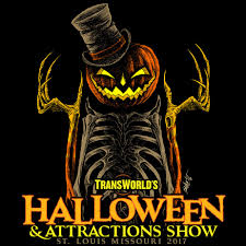 Best Halloween Attractions by The Halloween U0026 Attractions Show T Shirt 2017 Transworld U0027s