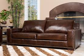 living room wayfairbeverly leather sofa with nailheads lals on