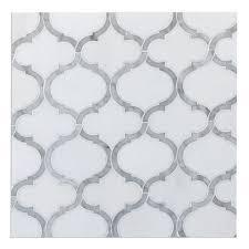 carrara marble mosaic tile octagon white carrara marble
