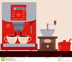 Download Coffee Machine Making Stock Vector
