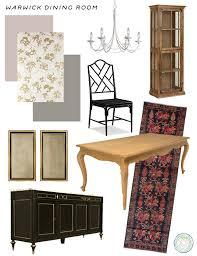 Hollywood Regency Inspired Dining Room