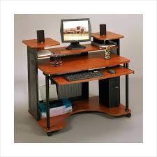 desk studio rta wood computer desk in black and cherry 18859