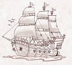 100 Pirate Ship Design Winsome Draw Images For Drawing At GetDrawings
