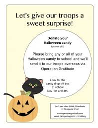 Donate Halloween Candy To Troops Overseas by Franklin Pta Santa Monica Page 33
