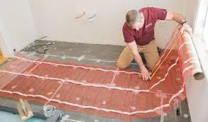 heated floor mat electric floor heating mat warmup