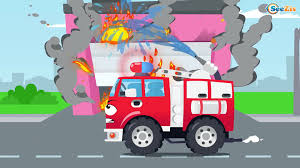 100 Fire Truck Cartoon White Ambulance Car Rescue In The City W Learn Cars