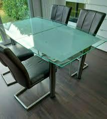 glastisch für esszimmer ausziehbar