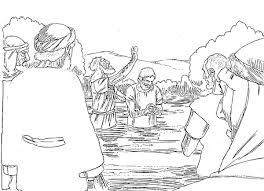 John The Baptist Coloring Pages Inside Jesus Baptism Page
