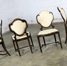 Art Nouveau Or Art Deco Shield Back Antique Dining Chairs Set Of ... Set Of 8 Vintage Midcentury Art Nouveau Style Boho Chic Italian Stunning Of Six Inlaid Mahogany High Back Chairs 2 Pair In Antiques Atlas Lhcy Solid Wood Ding Chair Armchair Lounge Nordic Style A Oak Set With Table Seven Chairs And A Side Ding Suite Extension Table France Side In Leather Chairish Gauthierpoinsignon French By Gauthier Louis Majorelle Caned An Edouard Diot Art Nouveau Walnut And Brass Ding Table Four 1930s American Classical Shieldback 4