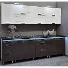 hochwertige küche 260cm küchenzeile quatro mdf weiss grau hochglanz