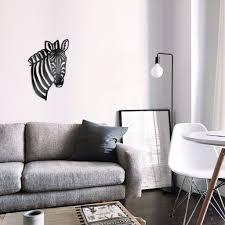 zebra stahl wandbild metal wall zimmer deko
