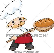 Clipart baker with bread Fotosearch Search Clip Art Illustration Murals Drawings