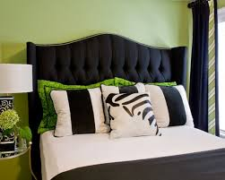 Black Leather Headboard With Crystals by Design Ideas For Black Upholstered Headboard 21302