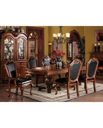 Acme Furniture Chateau De Ville 7 Piece Double Pedestal Dining Table Set