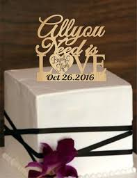 Wedding Cake ToppersAll You Need Is Lovecake Topperrustic TopperCustom Personalized TopperLove Topper