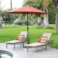 9 Ft Patio Umbrella With Crank by 9 Ft Patio Umbrella In Terracotta With Metal Pole And Tilt