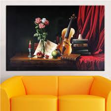 NO FRAME Home Printed MUSIC STUDIO STILL LIFE Oil Painting Canvas Prints Wall Art Pictures For