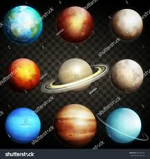 Planets Solar System Isolated Transparent Stock Vector