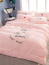 Bed Cover Sets by Buy 4pcs Bed Cover Set Pink Good Night Eyelash Pattern Soft