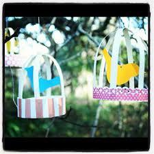 Diy Craft Bird Cage Party Garland