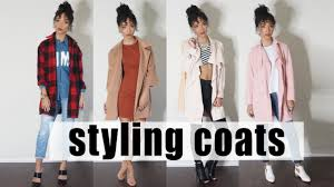lookbook styling long coats winter 2015 youtube