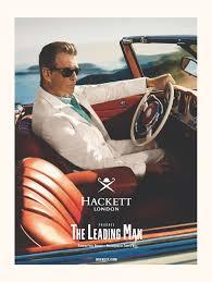 Former James Bond 007 Pierce Brosnan 2014 Print Ad Hackett London The Leading Man