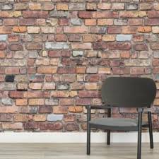 Peel Stick Wallpaper Target Lovely Pictures Of Realistic Brick Wall Murals Effect Vibrant