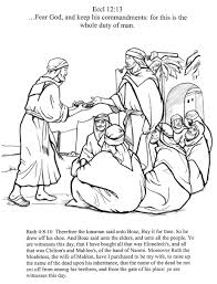 Boaz And Ruth Coloring Pages 40461