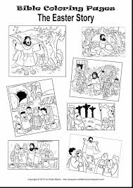 Wonderful Printable Easter Story Coloring Pages With Religious And Jesus
