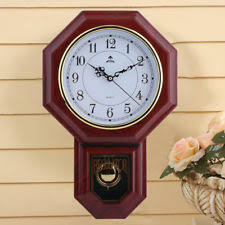 Chinese Style Large Wall Clock With Pendulum Vintage Antique NEW USA EW