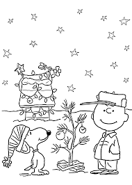 Charlie Brown Christmas Coloring Pages To Print Throughout Images