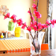 Paper Blossoms Kids Craft For Chinese New Year
