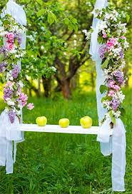Leyiyi 65x10ft Photography Backgroud Happy Valentines Day Backdrop Wedding Ceremony Flora Enchanted Forest Swing Ribbon