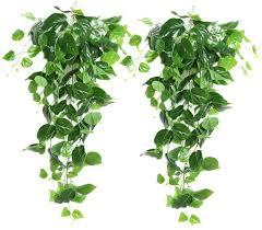 groofoo 2 stück künstliche hängende pflanzen 90 cm gefälschte efeupflanze hängendes grün scindapsus blätter zur dekoration