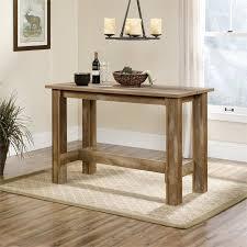 Walmart Sauder Sofa Table sauder boone mountain counter height dining table in craftsman oak