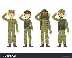 Militant Clipart Female Soldier 13