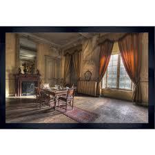 vintage bild wohnzimmer mit esstisch wandbild