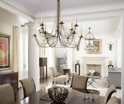 chandelier lighting kitchen table contemporary dining room