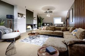 wohnzimmer idee modernes wohnzimmer im villa dachgeschoss