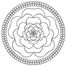 A Mandala Rose Coloring Pages