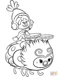 Trolls Valentine Coloring Pages With Troll Coloriage Of Image Detail
